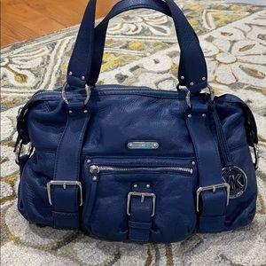 Michael Kors Austin navy leather satchel NWT $398